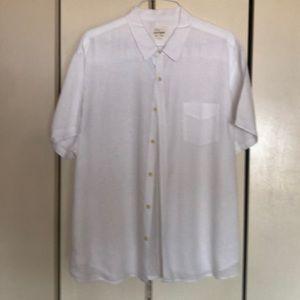 Lucky brand men's short sleeve linen shirt
